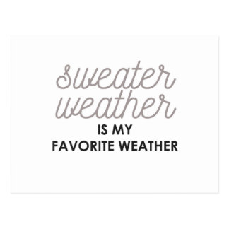 Sweater Weather is my Favorite Weather Postcard
