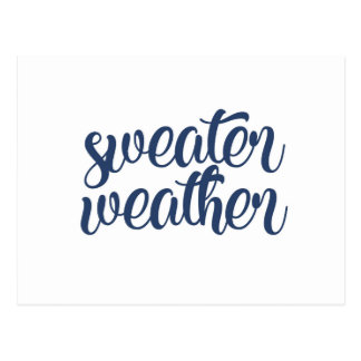 Sweater Weather Postcard