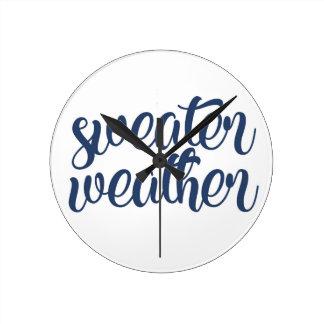 Sweater Weather Round Clock