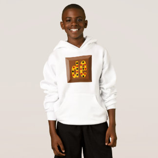 SWEATER   WITH HOOD HANES   OF CHOCOLATE CANDIES