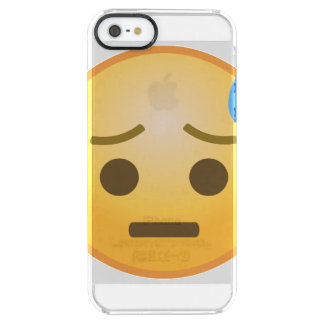 Sweating Emoji Clear iPhone SE/5/5s Case
