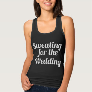619506d3 Sweating for the Wedding Black and White Tank Top