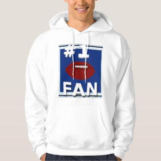 Sweatshirt blanc de passioné du football #1 et