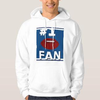 Sweatshirt bleu et blanc de passioné du football