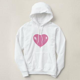 Sweatshirt hood pink collection heart