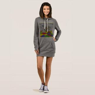 Sweatshirt, hoodie, long dress