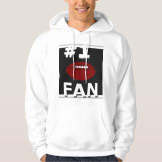 Sweatshirt noir et argenté de passioné du football