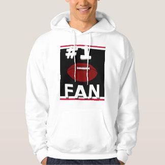Sweatshirt noir et rouge de passioné du football