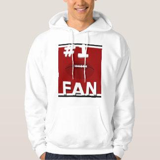 Sweatshirt rouge de Sisco de passioné du football