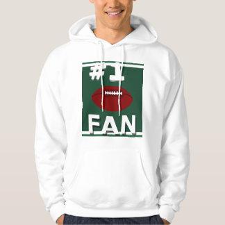 Sweatshirt vert et blanc de passioné du football