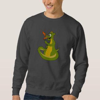 Sweatshirt with cartoon dragon