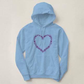 Sweatshirt with hood collection heart