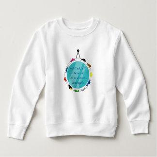 Sweatshirt with mirror writing & car