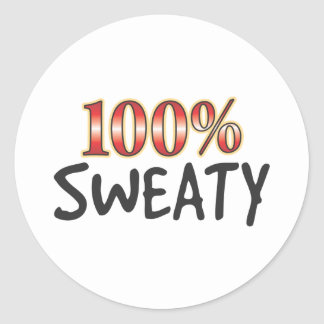 Sweaty 100 Percent Round Sticker