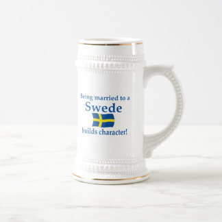 Swede Builds Character 18 Oz Beer Stein