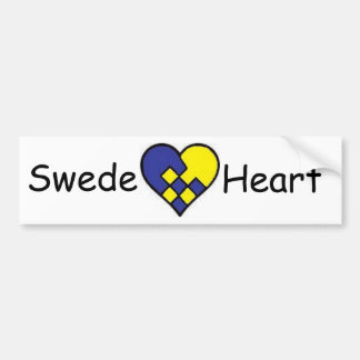 Swede Heart Bumper Sticker