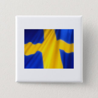 SWEDEN 2 INCH SQUARE BUTTON