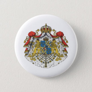 Sweden coat of arms 2 inch round button