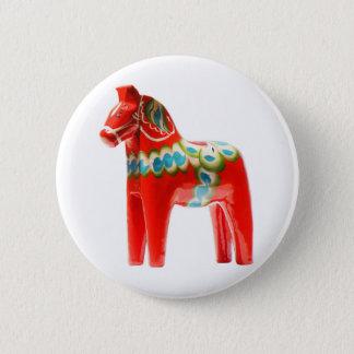Sweden Dala Horse 2 Inch Round Button