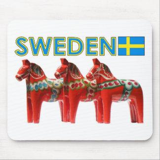 Sweden Dala Horses Mouse Pad