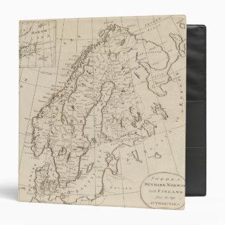 Sweden, Denmark, Norway and Finland 3 Vinyl Binder