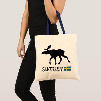 Sweden Elk and flag Tote Bag