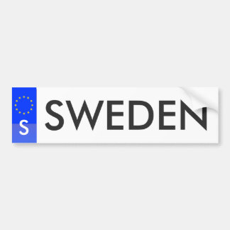 Sweden - European Union License Sticker