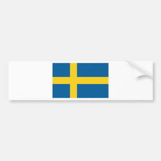 Sweden flag bumper sticker