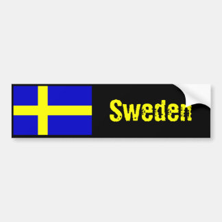 Sweden flag bumper sticker 2