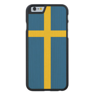Sweden Flag Carved Maple iPhone 6 Case