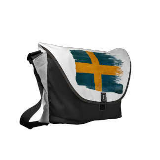 Sweden Flag Courier Bags