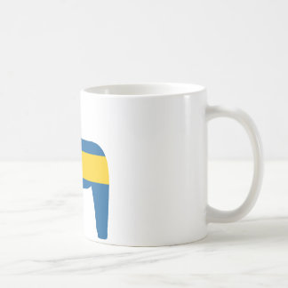Sweden Flag Dala Horse Coffee Mug