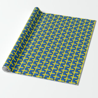 Sweden Flag Honeycomb Wrapping Paper