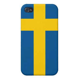 Sweden Flag iPhone Covers For iPhone 4