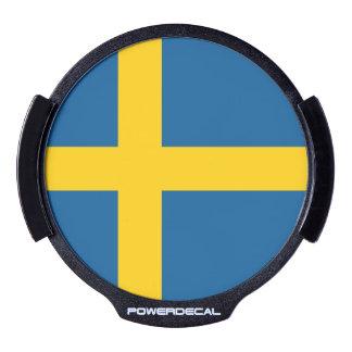 Sweden Flag LED Window Decal