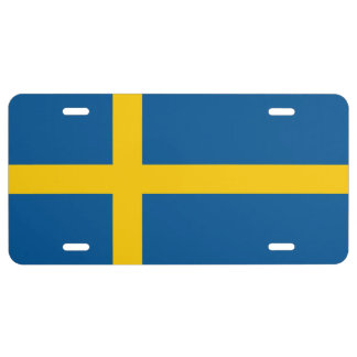 Sweden Flag License Plate