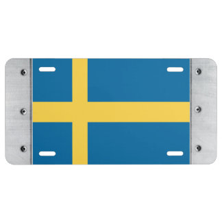Sweden Flag License Plate