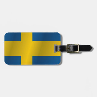 Sweden flag luggage tag