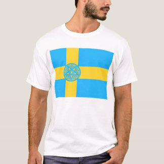 Sweden Flag Pentagram T-Shirt