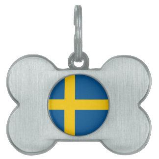 Sweden Flag Pet ID Tag