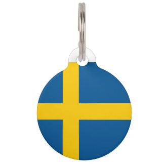 Sweden Flag Pet Name Tag