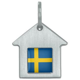 Sweden Flag Pet Tags