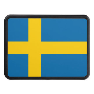 Sweden flag quality trailer hitch cover