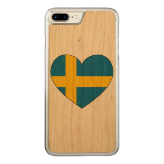 Sweden Flag Simple Carved iPhone 7 Plus Case