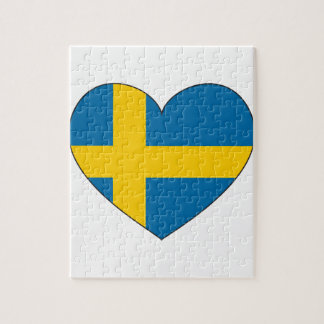 Sweden Flag Simple Jigsaw Puzzle