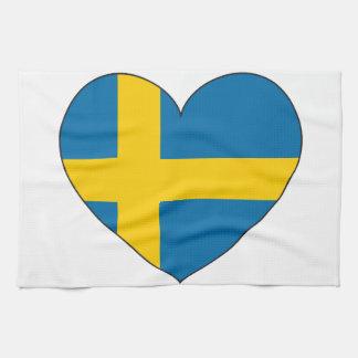 Sweden Flag Simple Kitchen Towel