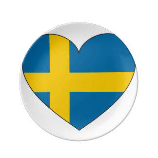 Sweden Flag Simple Plate