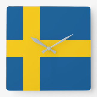 Sweden Flag Square Wall Clock