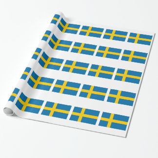 Sweden Flag Wrapping Paper