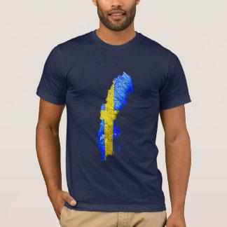 Sweden Flagcolor Map T-Shirt